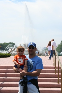 Spending time at the Buckingham Fountain