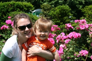 Kerry and Xavier in the Rose Garden